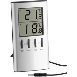 TFA digitalni termometar, unutarnji/vanjski, srebrni metalik
