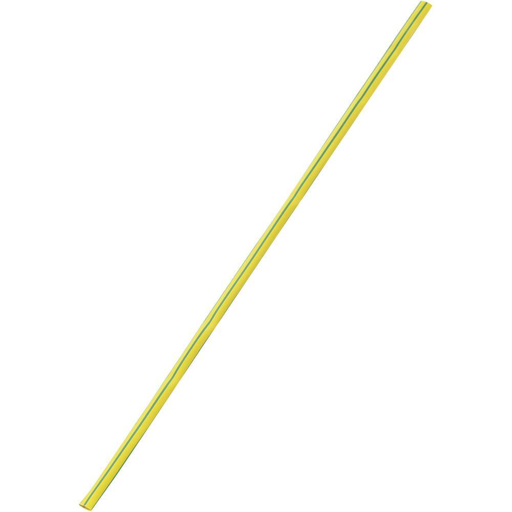 Tankostenska skrčljiva cev pred/po krčenju: 25 mm/8 mm razmerje 3:1 rumena-zelena