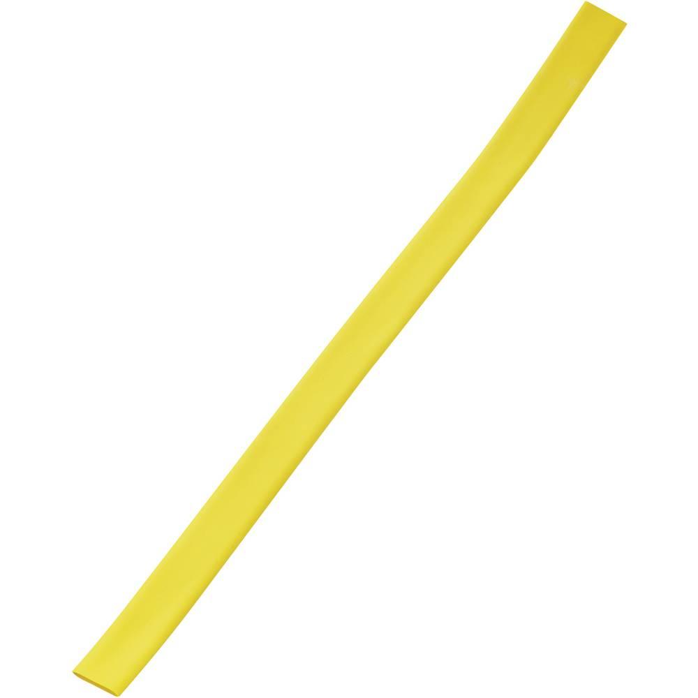 Tankostenska skrčljiva cev pred/po krčenju: 18 mm/6 mm razmerje 3:1 rumena
