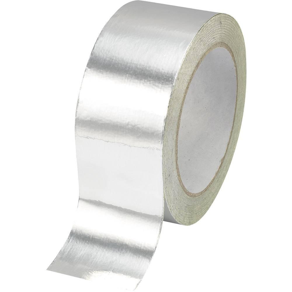 Aluminijski lepilni trak TRU COMPONENTS AFT-10050 srebrne barve (D x Š) 50 m x 100 mm akril vsebina: 1 kolut