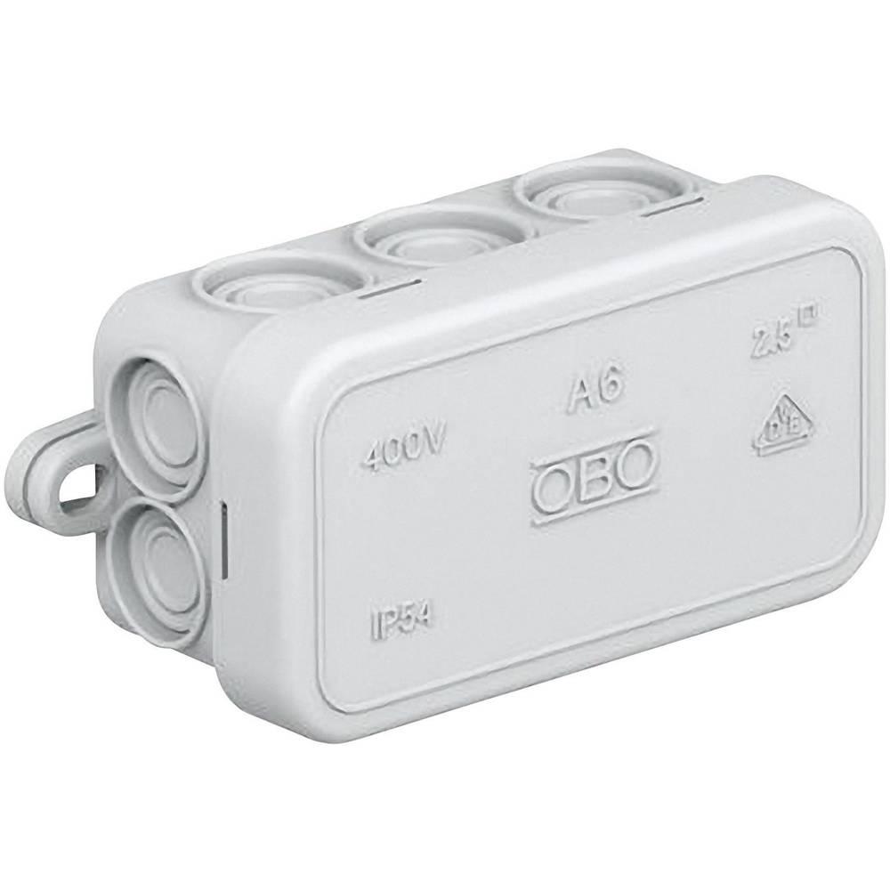 Odcepnik za vlažne prostore OBO Bettermann 2000001, A6, 80 x43 x 34 mm, svetlo siv, IP55