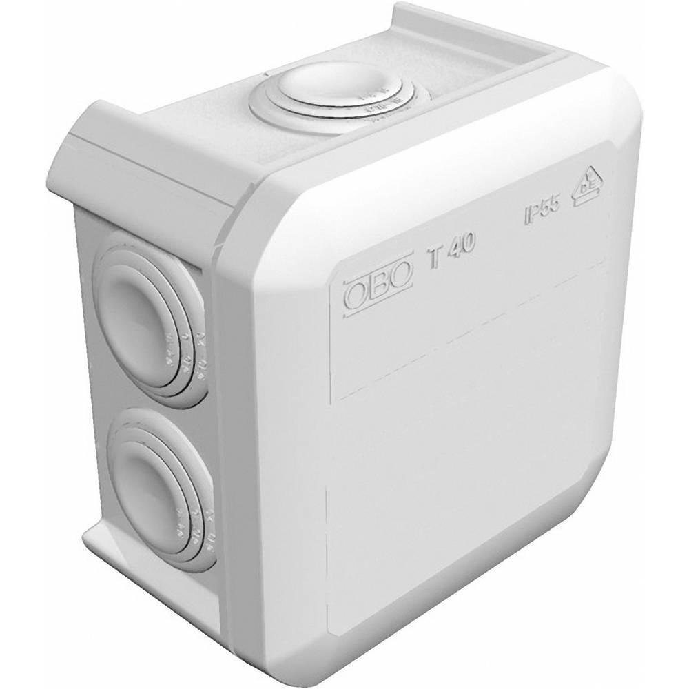 Odcepnik za vlažne prostore OBO Bettermann 2007432, T40KL, 90 x 90 x 52 mm, siv, IP55
