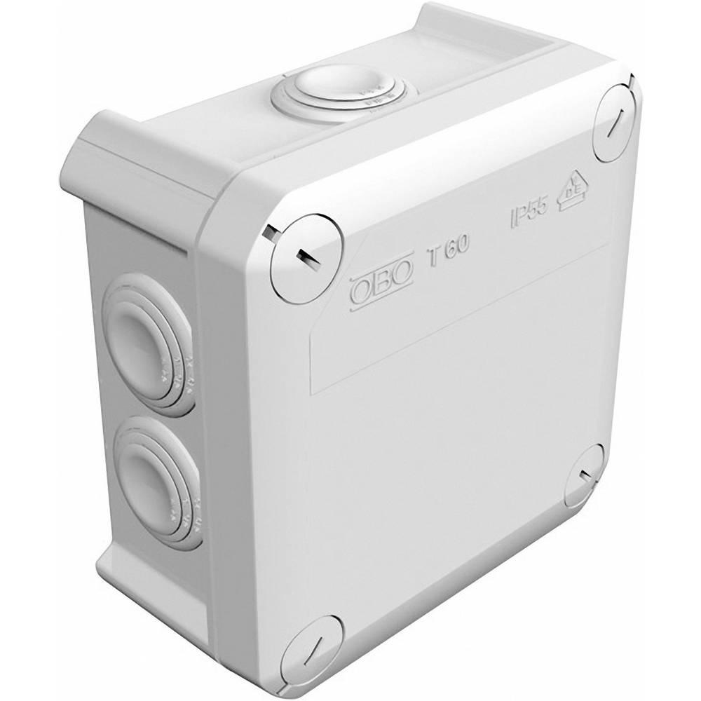 Odcepnik za vlažne prostore OBO Bettermann 2007061, T60, 114x 114 x 57 mm, siv, IP66