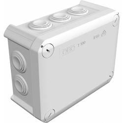 Avgreningsbox (LxBxH) 150 x 116 x 67 mm OBO Bettermann Kabelabzweigkasten T100 Ljusgrå (RAL 7035) IP66