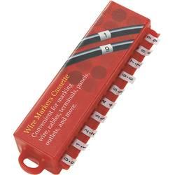 Komplet nalepk za označevanje kablov, natisnjeni simboli 0 - 9 394740 MD TRU Components
