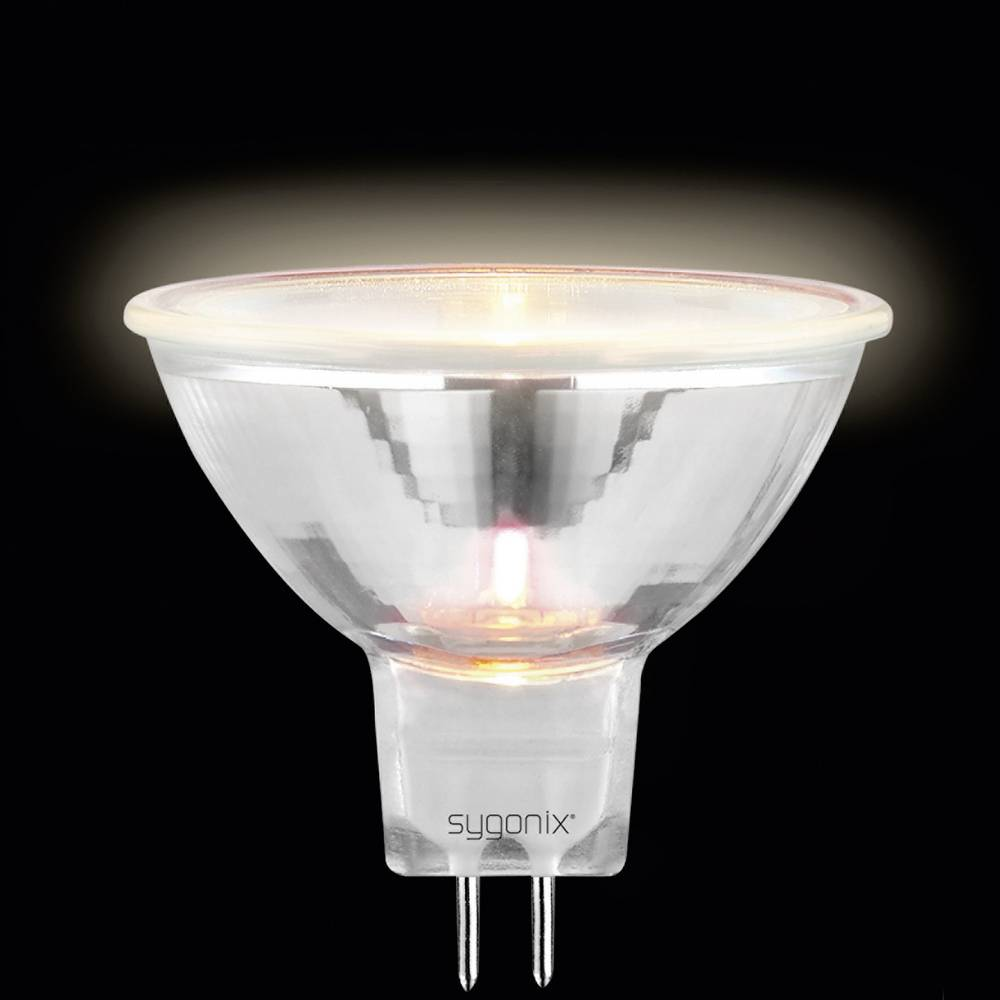 Halogenska žarnica 50 mm Sygonix 12V GU5.3 35 W reflektor,toplo bela zatemnilni 20369X