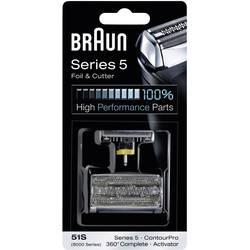 Skärhuvud och skärfolie Braun 51S - Kombipack 8000 Silver 1 set
