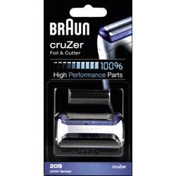 Skärhuvud och skärfolie Braun 20S - Kombipack cruZer Silver 1 set