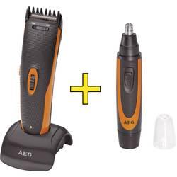 Aparat za striženje las, nosnih in ušesnih dlačic in brade AEG HSM/R5597 črne barve, oranžne barve