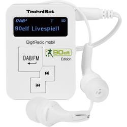 Technisat Mobil DAB Radio žepni radio, prenosni radio DAB+, UKV bela 0001/4956