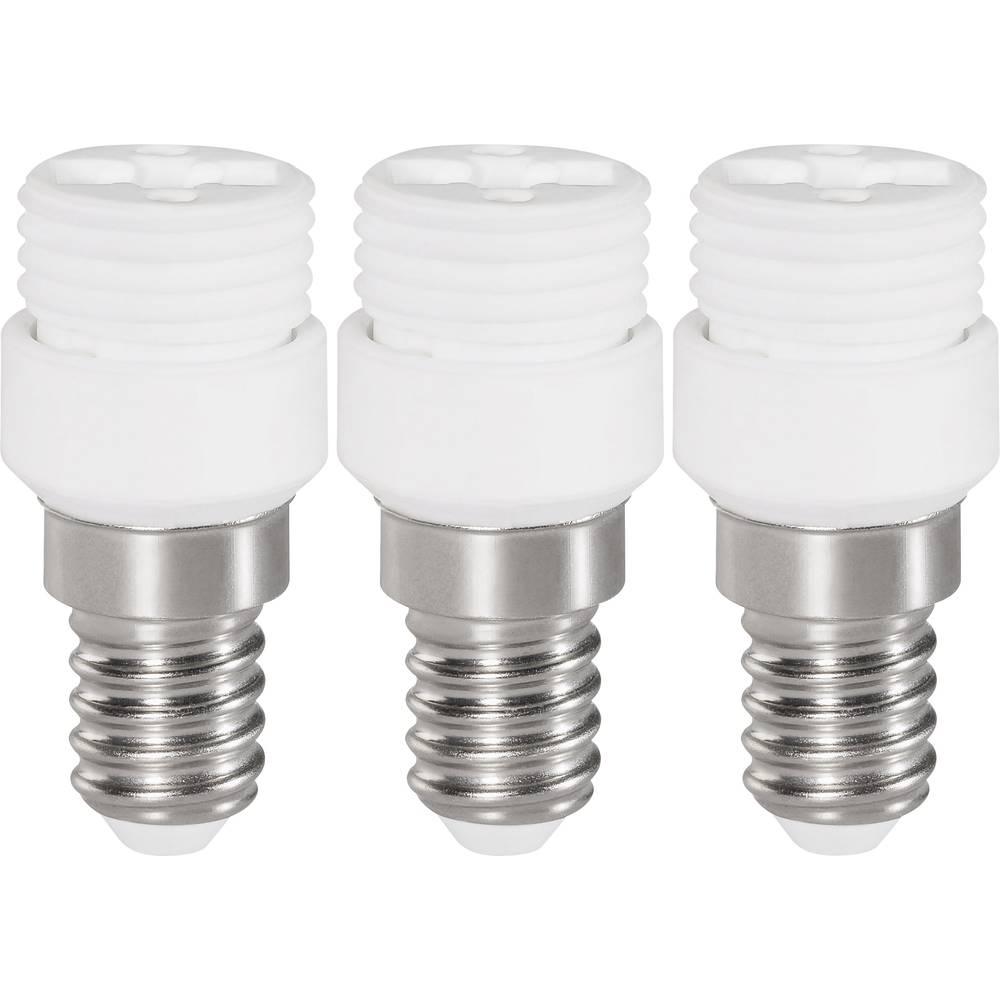Adapter za podnožje žarulje, E14 na G9, komplet 3 komada, bijele boje