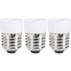 Adapter za podnožje žarulje, 97029c81e, E27 na GU10, komplet 3 komada, bijele boje