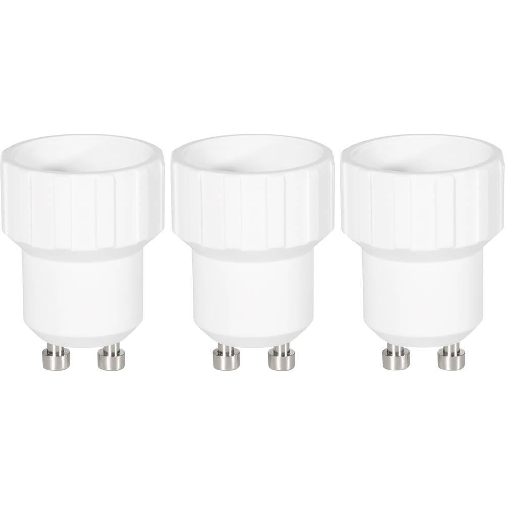 Adapter za podnožje žarulje, 97029c81f, GU10 na E14, komplet 3 komada, bijele boje