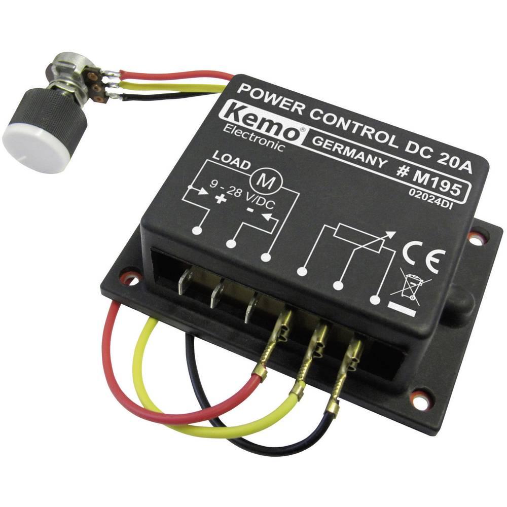 PWM močnostni regulator - modul Kemo M195 9 V/DC, 12 V/DC, 24 V/DC, 28 V/DC