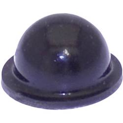 Chassisfod TOOLCRAFT PD2055SW Selvklæbende, Rund Sort (Ø x H) 9.6 mm x 5.4 mm 1 stk