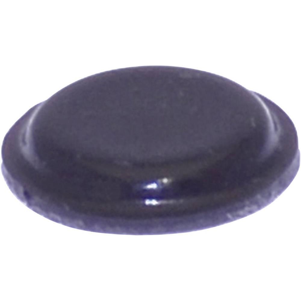Chassisfod TOOLCRAFT PD2120SW Selvklæbende, Rund Sort (Ø x H) 10.1 mm x 1.8 mm 1 stk