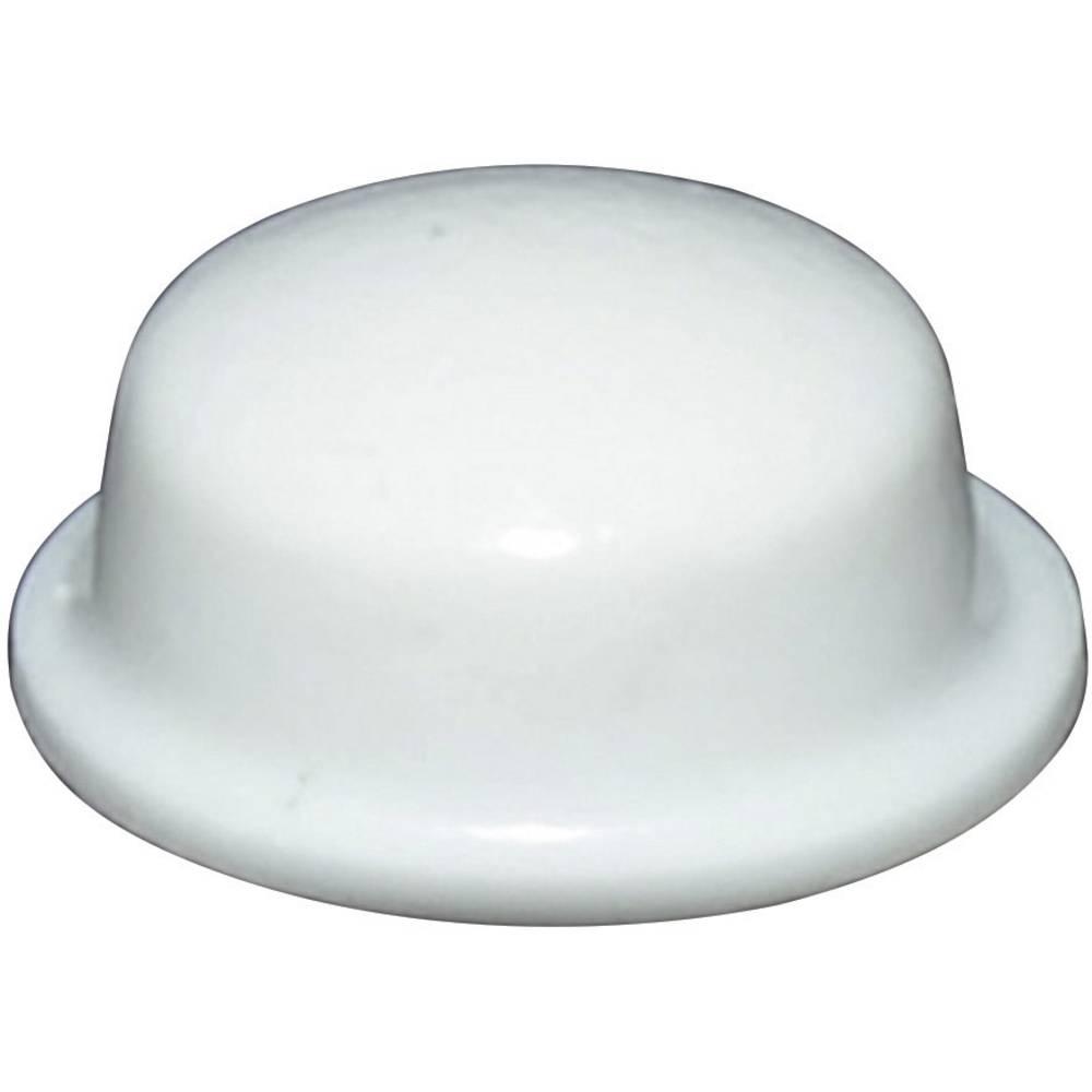 Chassisfod TOOLCRAFT PD2115W Selvklæbende, Rund Hvid (Ø x H) 11.1 mm x 5 mm 1 stk