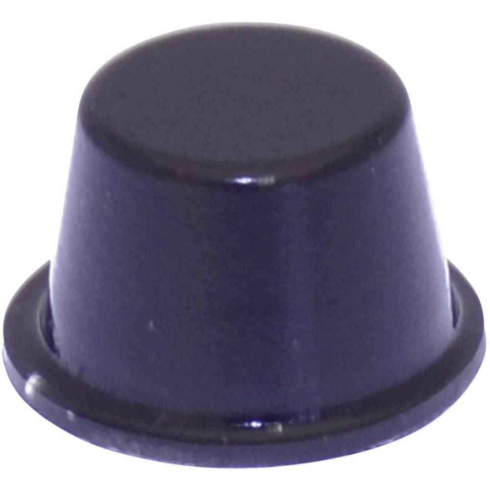 Chassisfod TOOLCRAFT PD2164SW Selvklæbende, Rund Sort (Ø x H) 16.5 mm x 10.2 mm 1 stk