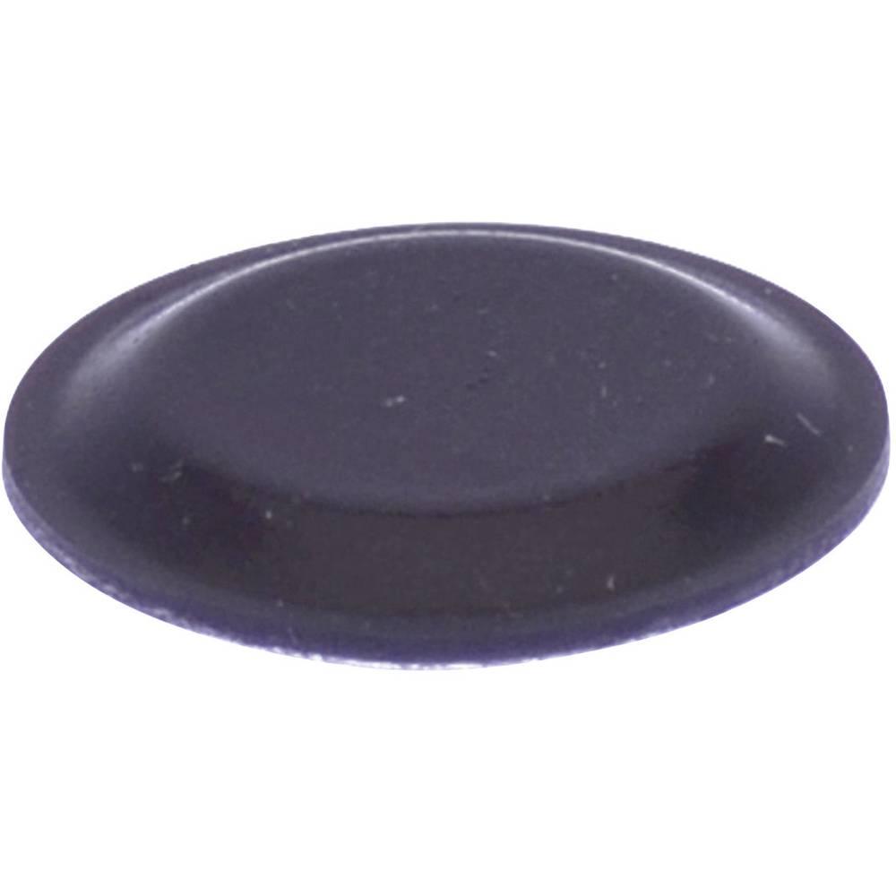 Chassisfod TOOLCRAFT PD2191SW Selvklæbende, Rund Sort (Ø x H) 19 mm x 1.9 mm 1 stk