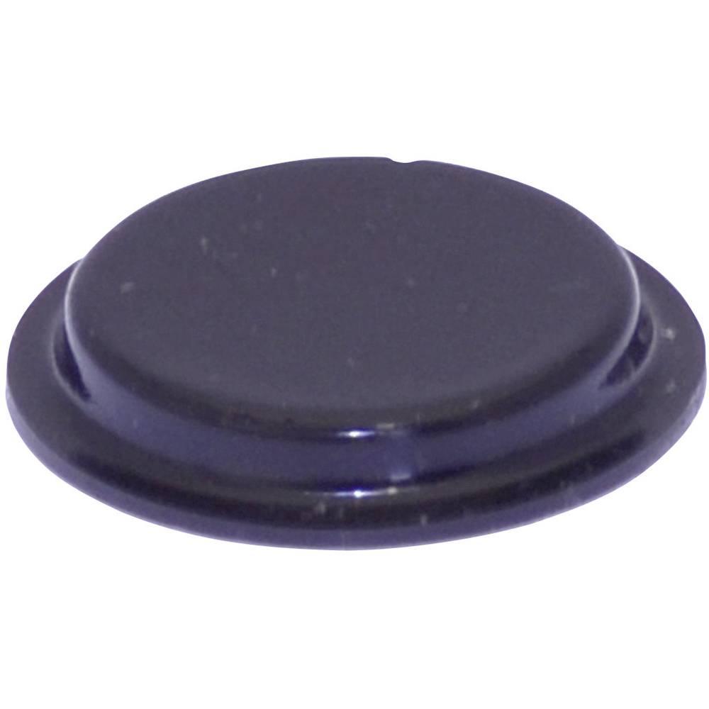 Chassisfod TOOLCRAFT PD2204SW Selvklæbende, Rund Sort (Ø x H) 19.7 mm x 3 mm 1 stk