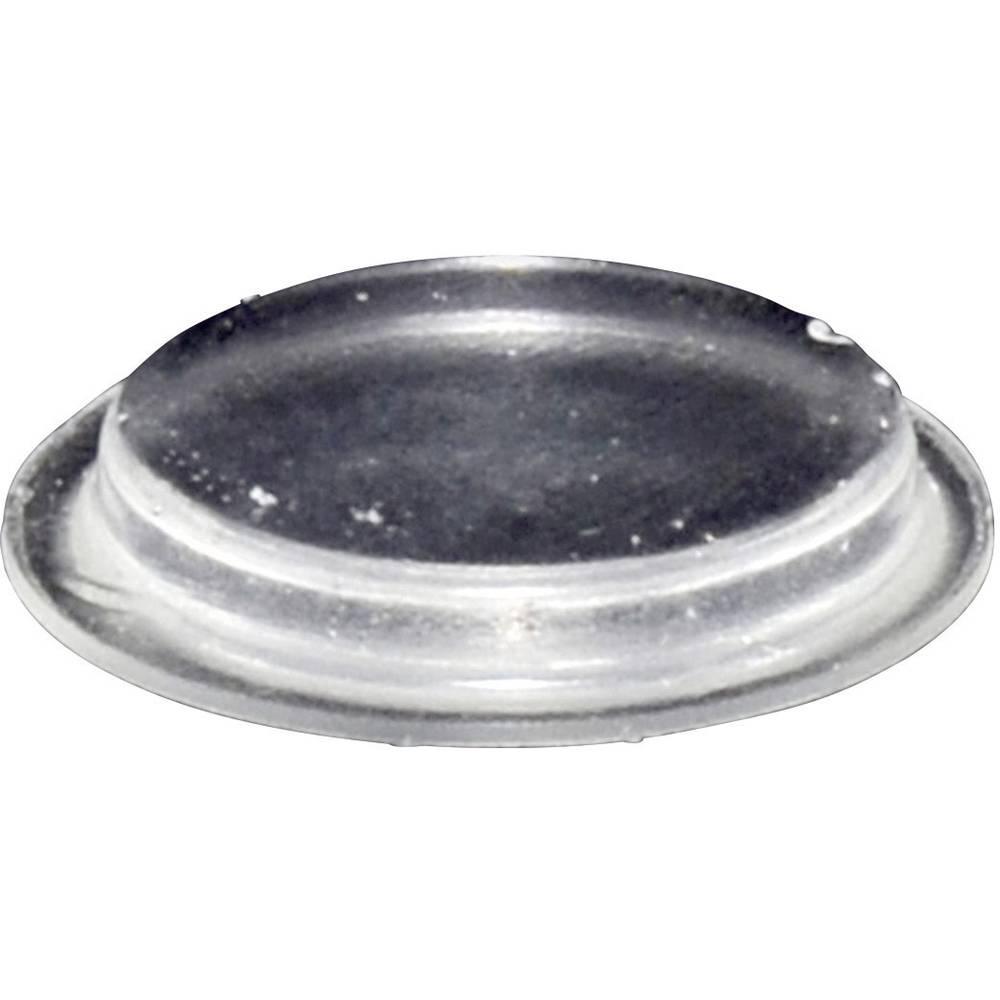 Chassisfod TOOLCRAFT PD2204C Selvklæbende, Rund Transparent (Ø x H) 19.7 mm x 3 mm 1 stk