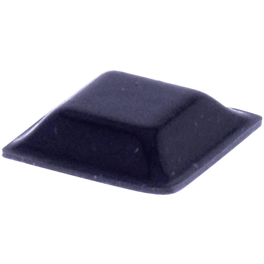 Chassisfod TOOLCRAFT PD2127W Selvklæbende, Kvadratisk Hvid (L x B x H) 12.7 x 12.7 x 3.1 mm 1 stk