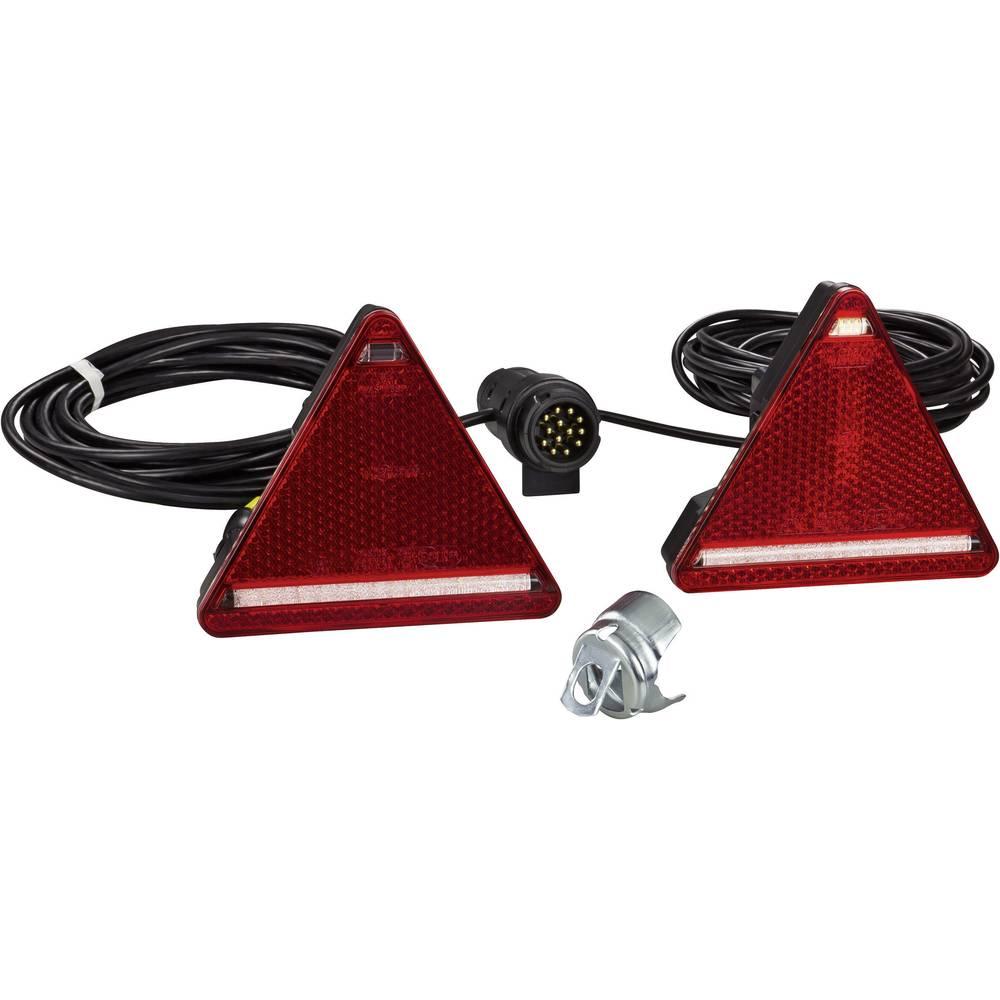 Zadnja luč za priklopnike, zavorna luč, zadnja meglenka, trikotni odsevnik, smernik, rdeča, bela, SecoRüt