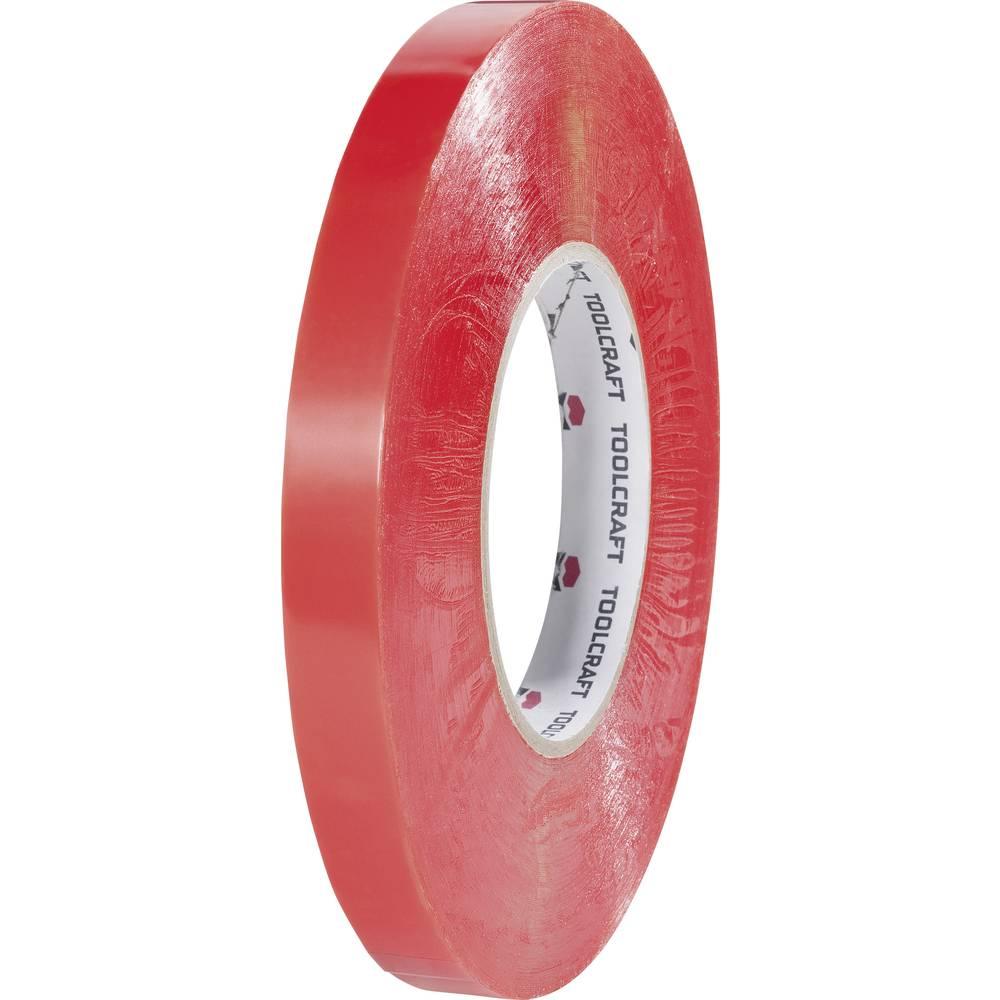 Dvostrana ljepljiva traka (D x Š) 50 m x 15 mm prozirna poliester 1397P1550C TOOLCRAFT sadržaj: 1 rola