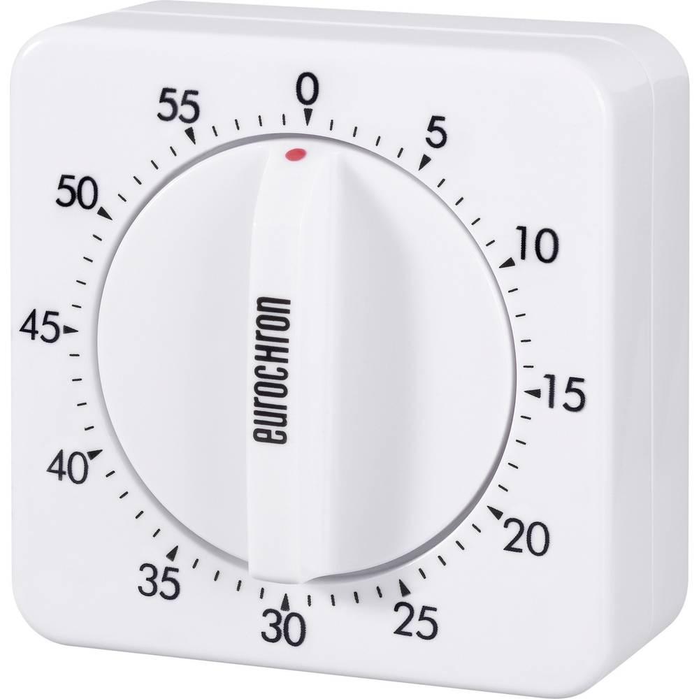 Mehanički mjerač vremena Eurochron 60 EAT 6000 (D x Š) 70 x 70 mm bijeli 13600