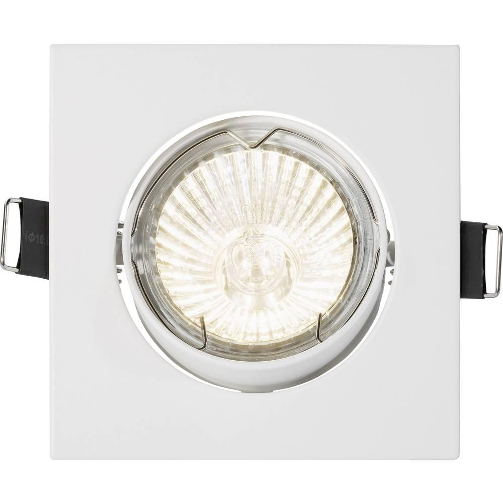 Vgradna svetilka, stropni obroč Basetech Square CT-3112, GU10, halogenska žarnica, 35 W, bel