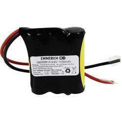 LiFePO4 akumulator Emmerich 18650, 9, 6 V, 1.100 mAh, (Š x V x G) 60 x 66 x 19 mm 3A12318650RK