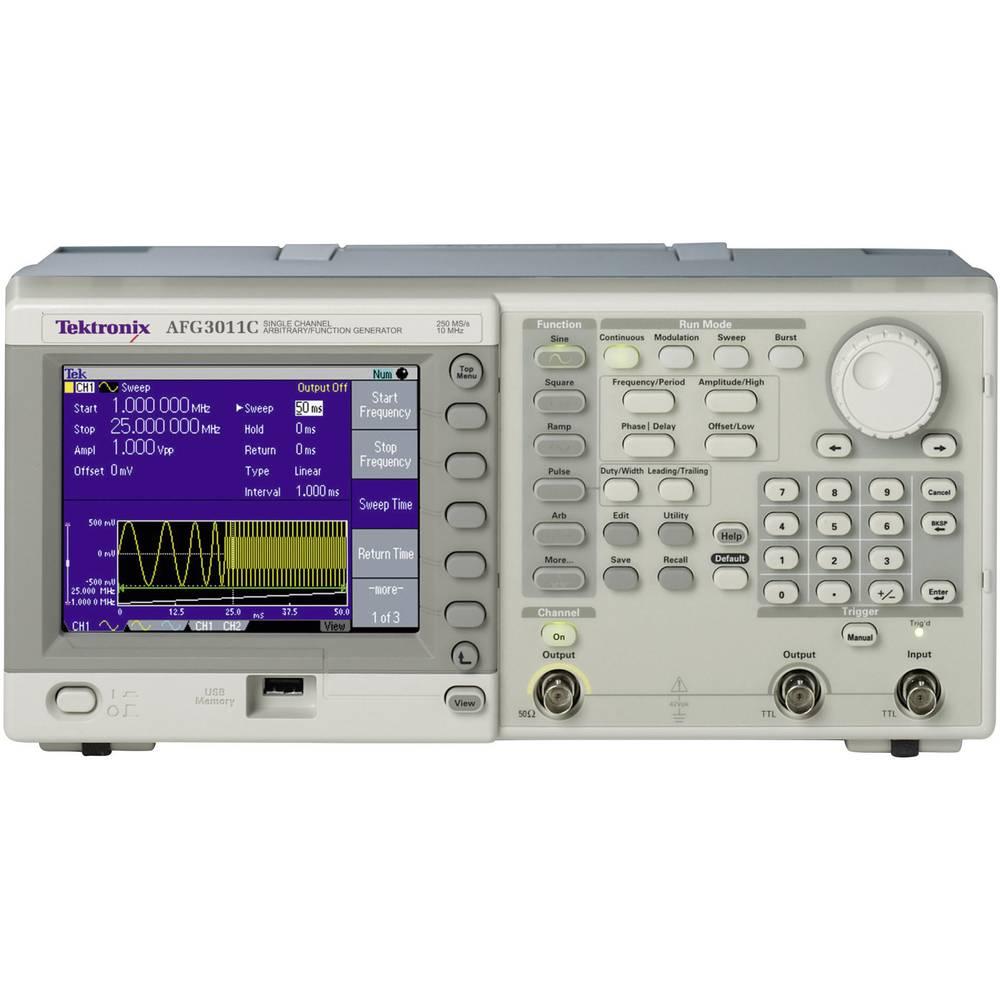 Kal. ISO Tektronix AFG3101C arbitrarni funkcijski generator, frekvenčno območje 1 µHz - 100 MHz, število kanalov 1 - ISO,