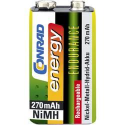 9 V blok baterija Endurance 6LR61 Conrad energy NiMH 270 mAh 8.4 V 1 kom.