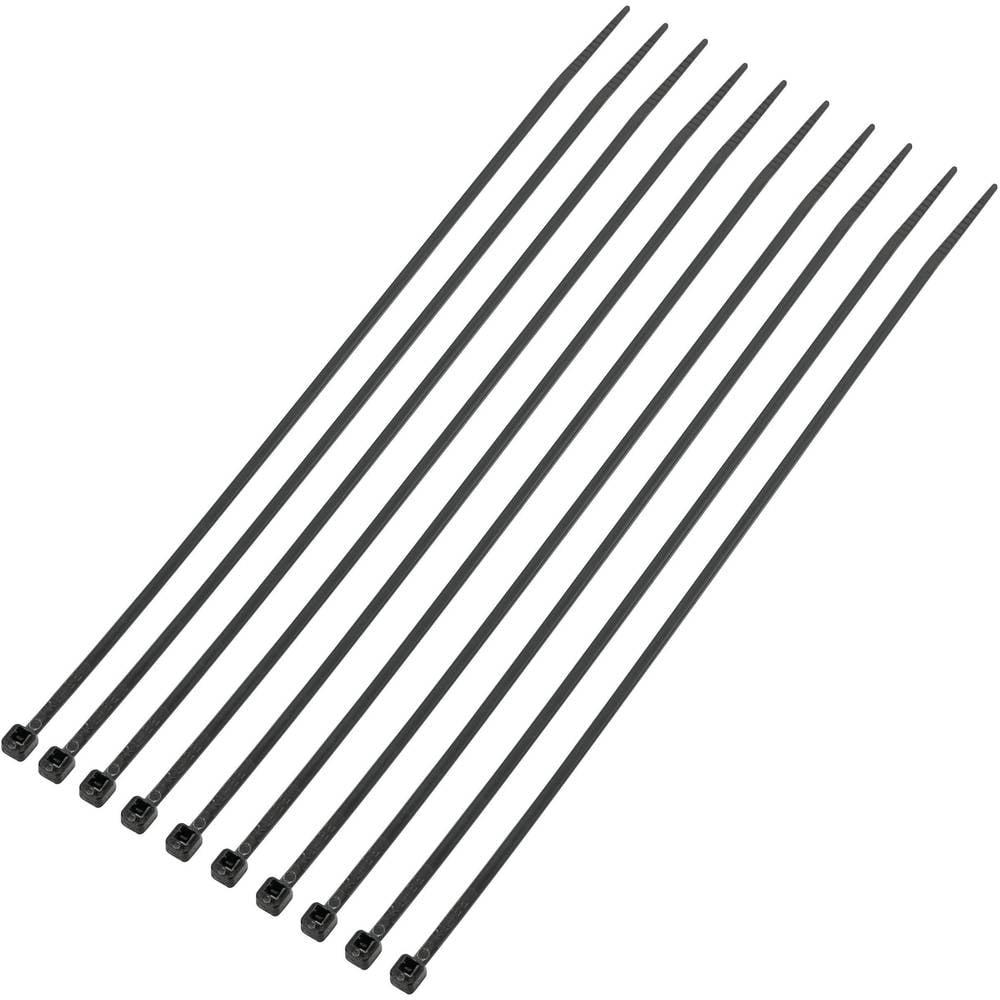 Kabelske vezice 200 mm črne barve UV-stabilne KSS CV200MKBK 1000 kos