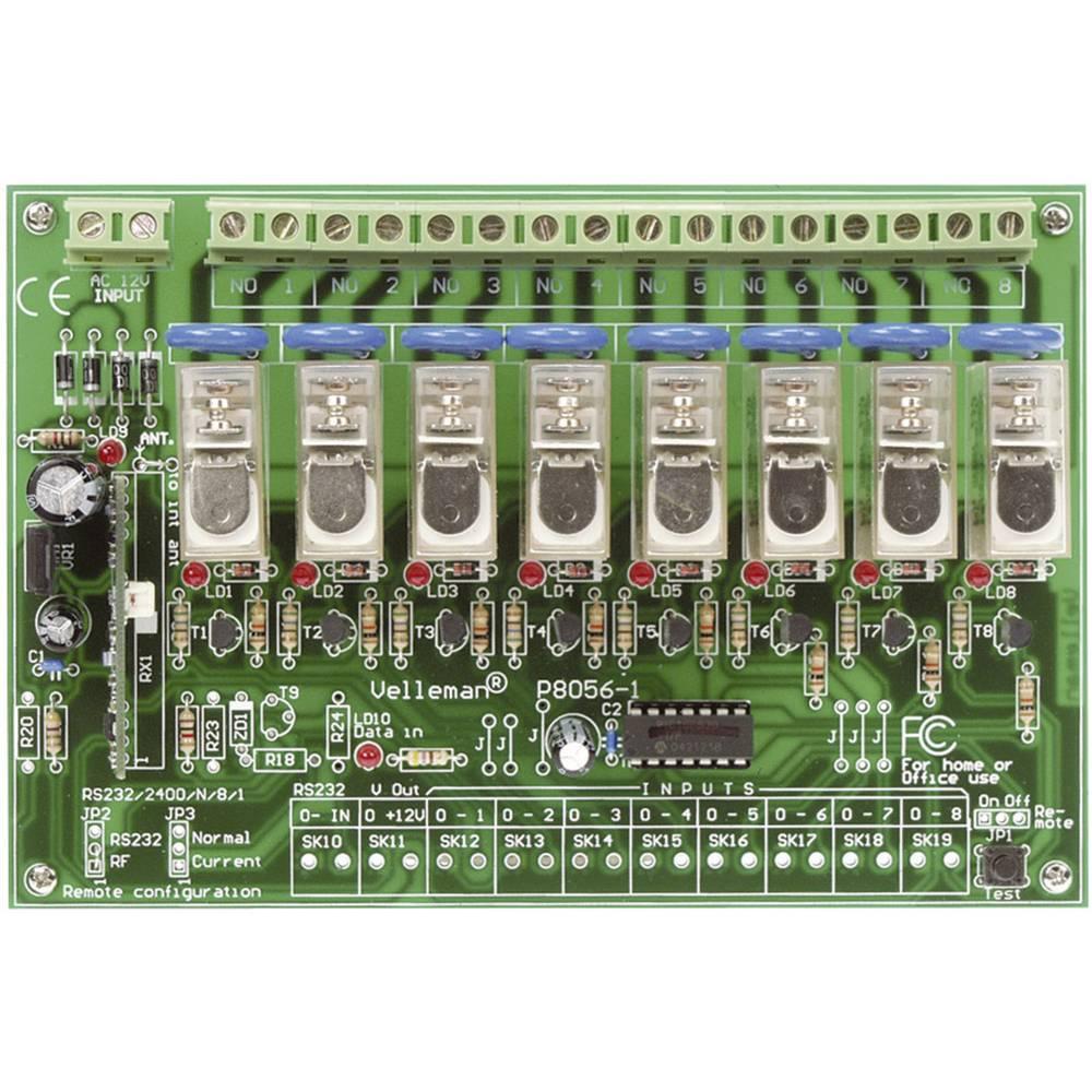 8-kanalni radijsko vodeni komplet z daljinskim upravljalnikom Velleman, obratovalna napetost 230 V/AC, VM118