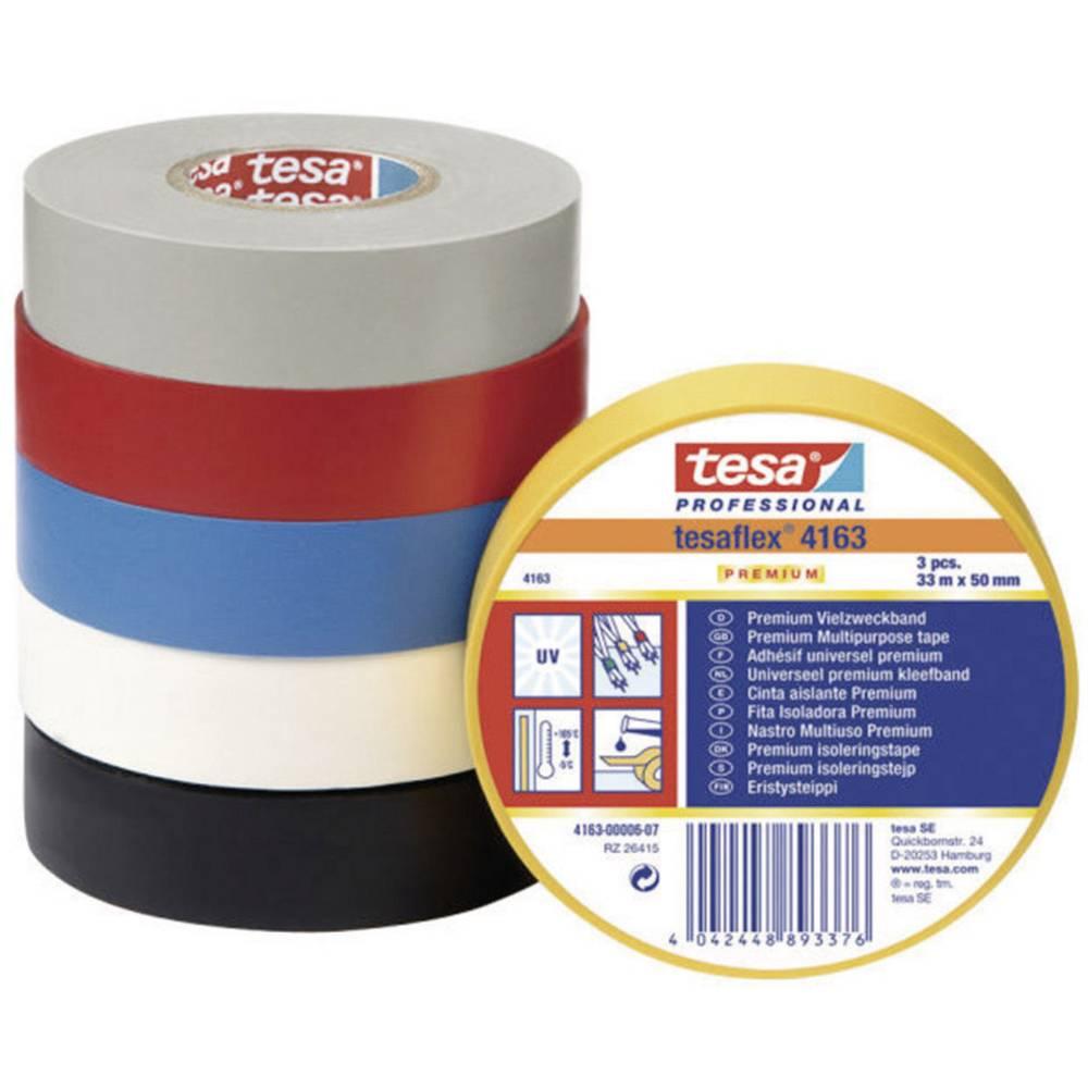 Izolacijska traka tesaflex 4163 (D x Š) 33 m x 30 mm crna PVC 4163-07-02 TESA sadržaj: 1 rola