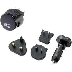 Personbil, Vägguttag USB-laddare VOLTCRAFT CPUC-1000 med UK-adapter 1 xUSB 1000 mA Svart