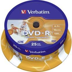 DVD-R prazni Verbatim 43538 4.7 GB 25 kom. okrugla kutija ispisiv