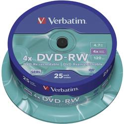 DVD-RW prazni Verbatim 43639 4.7 GB 25 kom. okrugla kutija RW