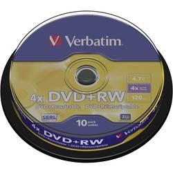 DVD+RW prazni Verbatim 43488 4.7 GB 10 kom. okrugla kutija RW