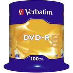 DVD-R prazni Verbatim 43549 4.7 GB 100 kom. okrugla kutija