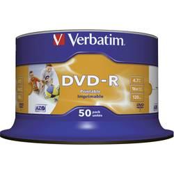 DVD-R prazni Verbatim 43649 4.7 GB 50 kom. okrugla kutija ispisiv