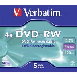 DVD-RW prazni Verbatim 43285 4.7 GB 5 kom. kutija RW