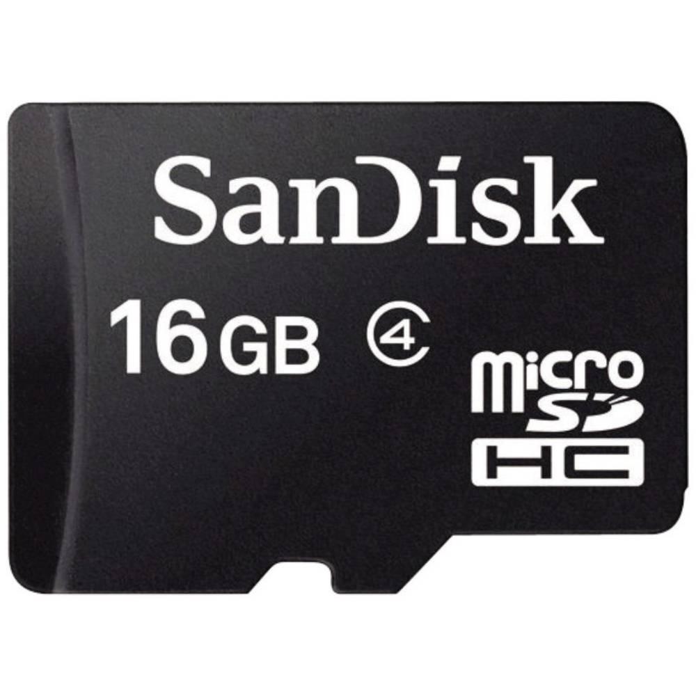 Kartica MicroSDHC SanDisk, 16GB, razred 4 SDSDQM-016G-B35