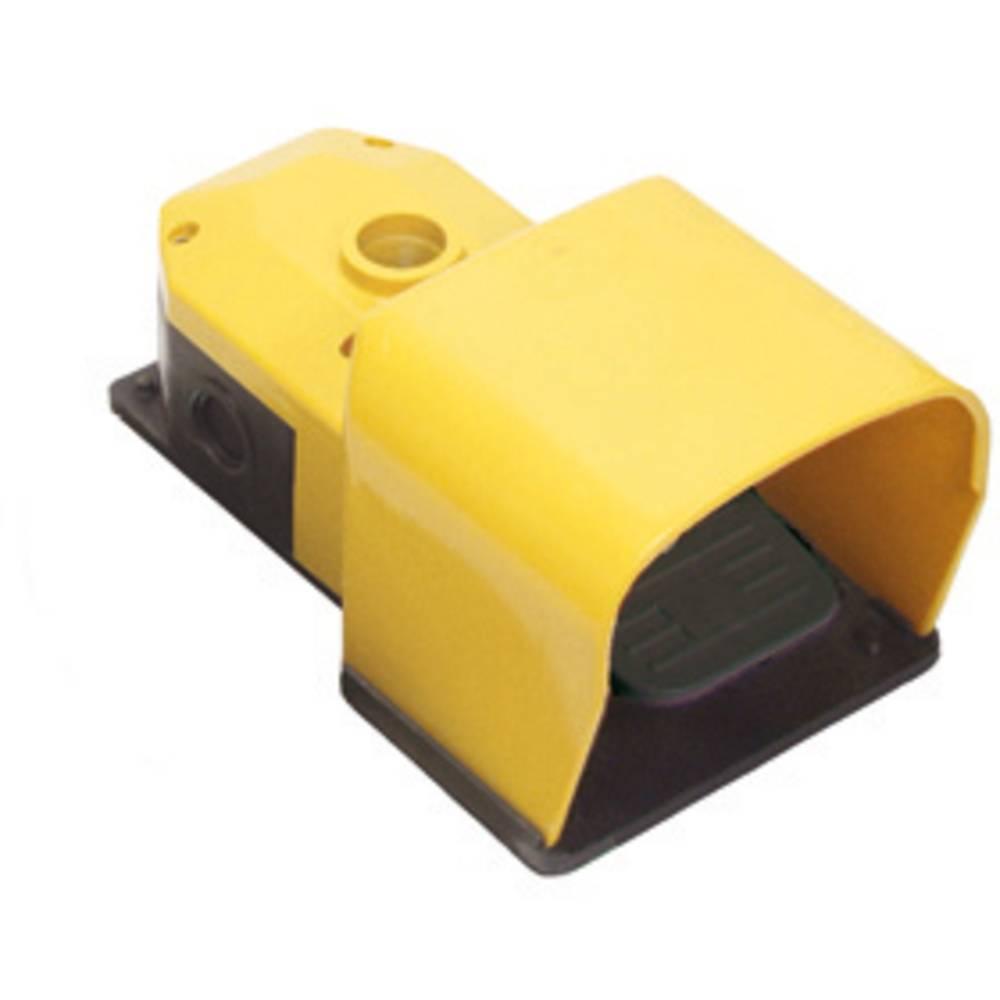 Nožno stikalo 250 V/AC 6 A 1 pedalo z zaščitnim pokrovom 1 zaprto,, 1 odprto, Pizzato Elettrica PX10110-B IP53 2 kosa