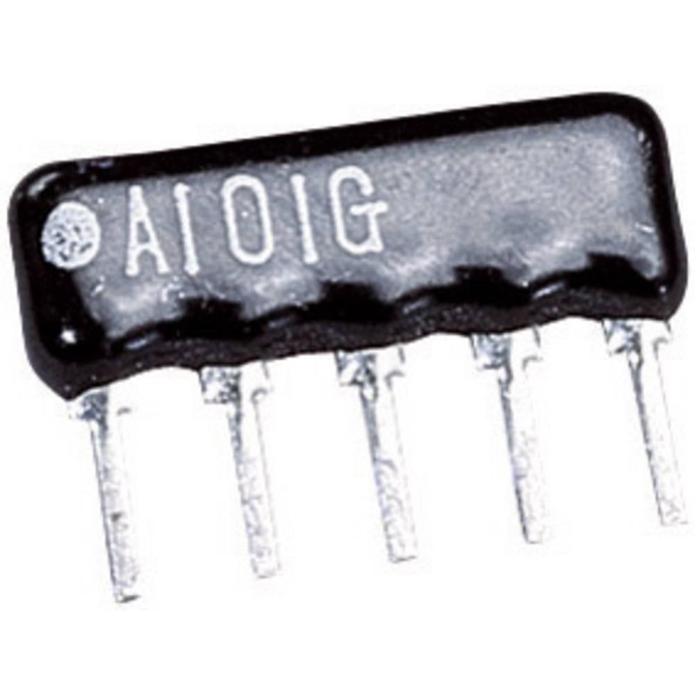 Yageo Uporovna vezja SIP 4+1SIP 4+1 1 kOhm 0.125 W 2 % RNL05AGB-1K