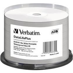 DVD-R prazni Verbatim 43734 4.7 GB 50 kom. okrugla kutija ispisiv