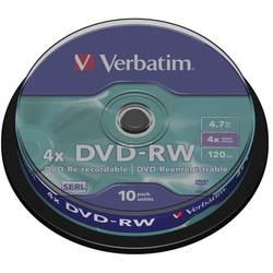 DVD-RW prazni Verbatim 43552 4.7 GB 10 kom. okrugla kutija RW