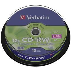 CD-RW prazni Verbatim 43480 700 MB 10 kom. okrugla kutija RW