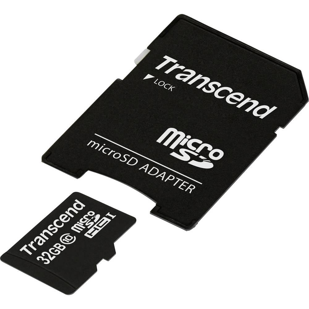 Kartica microSDHC Transcend, 32 GB, razred 10 + SD-adapter TS32GUSDHC10